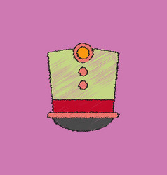 Magic hat in hatching style vector