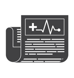 Medical journal icon vector