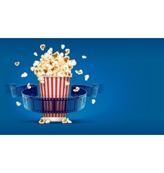 Popcorn for cinema and movie vector image