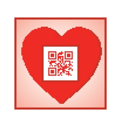 QR code I love you vector image