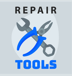 Repair tools pliers wrench icon creative graphic vector