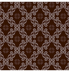 seamless pattern with swirl ornament vector image