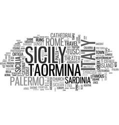Sicily word cloud concept vector