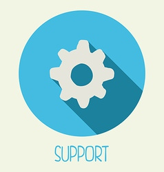 support icon vector image