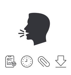 Talk or speak icon loud noise symbol vector
