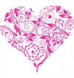 valentines day heart background vector vector image