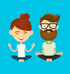woman girl and hipster young man guy vector image vector image