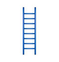 Wooden ladder in blue design vector