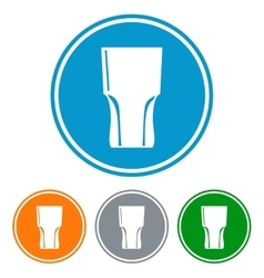 Flat tumbler glass for beer vector image