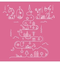 Christmas tree with 2017 inscription vector image