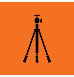Icon of photo tripod vector