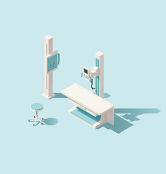 isometric low poly x-ray machine vector image