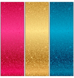 Colorful metal textures vector