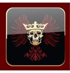 Crowned skull vector