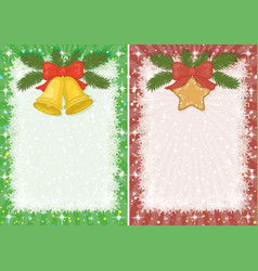 Christmas backgrounds with star and bells vector