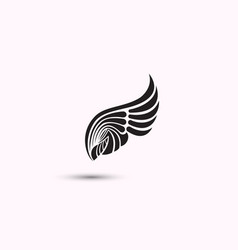 Angel wings icon on white background flat web vector