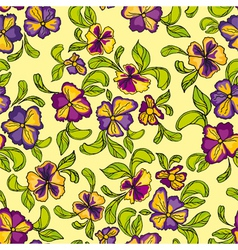 pattern of multicolored flowers vector image