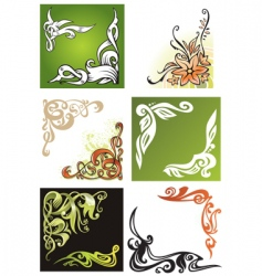 Decorative corner elements vector