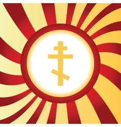 Orthodox cross abstract icon vector