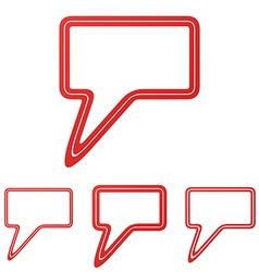 Red line speech bubble logo design set vector