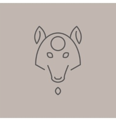 Abstract Line Drawing Of Wolf Head vector image vector image