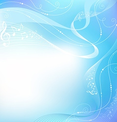Blue music background vector image