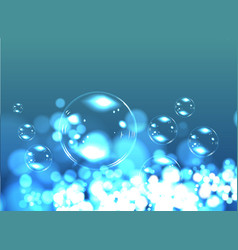 Bubble soap background vector