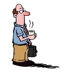 business man employee vector image
