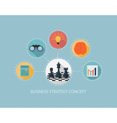 Business strategy concept on flat style design vector image