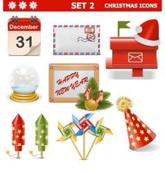 Christmas Icons Set 2 vector image vector image