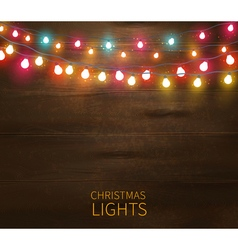 Christmas Lights Poster vector image vector image