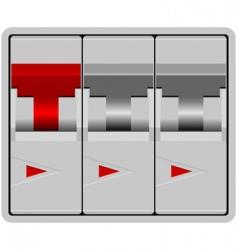 circuit breaker vector image vector image