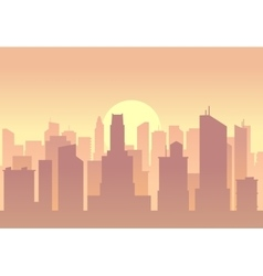 city flat skyline vector image