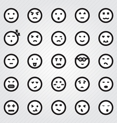 Emotion Faces Icons Collection vector image vector image