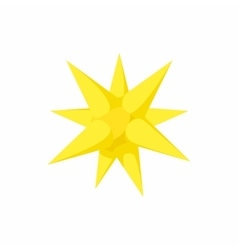 Gold moravian star icon cartoon style vector