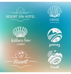 Hand drawn silhouettes Beach vacation in the vector image vector image