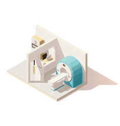 isometric low poly mri room icon vector image vector image