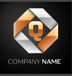 Letter q logo symbol in the colorful rhombus on vector