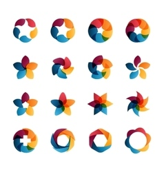 Logo templates set vector