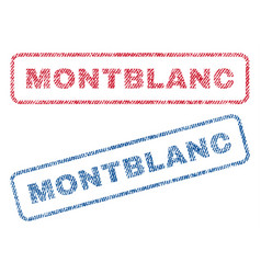 Montblanc textile stamps vector