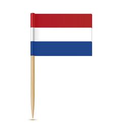 netherlands flag toothpick vector image vector image