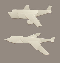 Origami logistic paper plane transport concept vector