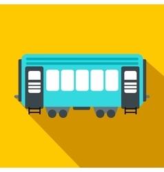 Passenger railway waggon flat icon vector