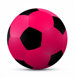 Pink ball isolated on white background vector