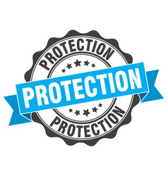 Protection stamp sign seal vector