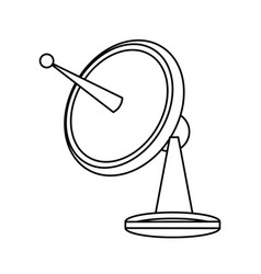 Satellite dish communication technology network vector
