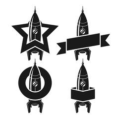 Space rocket symbols vector image