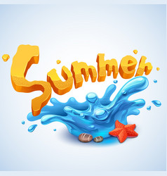 summer splash vector image