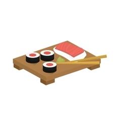 Sushi japan gastronomy vector image