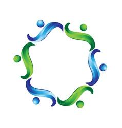 Team non profit logo vector